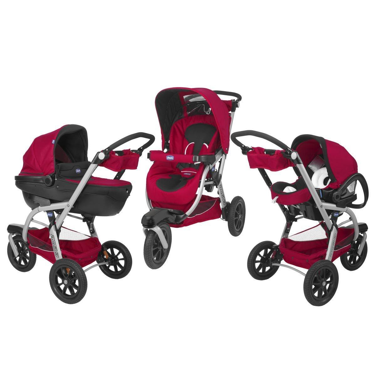 poussette trio rouge chicco